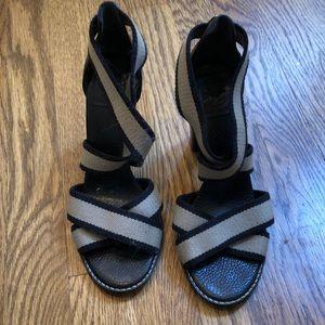 Open work high sandals